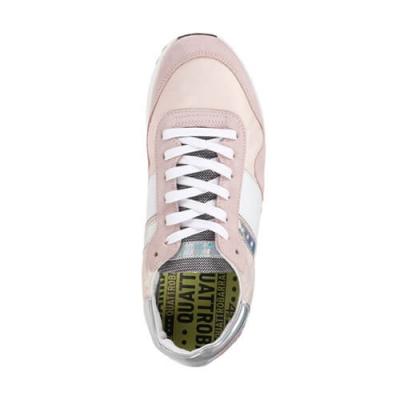 Замшевые розовые кроссовки 4 BARRA 12 (ITALY)