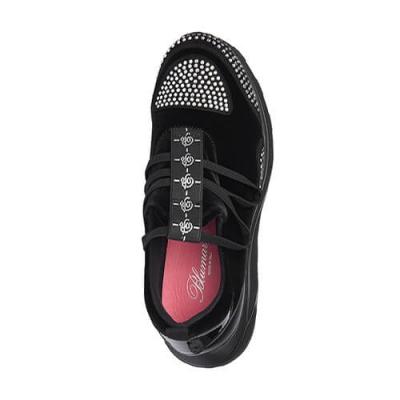 Замшевые чёрные кроссовки BLUMARINE (ITALY)