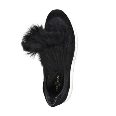 Замшевые чёрные кроссовки CAR SHOE (ITALY)