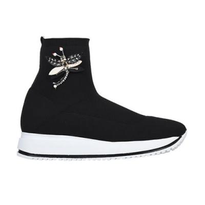 Текстильные чёрные кроссовки DIGIADA (ITALY)