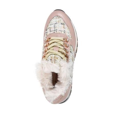 Кожаные розовые кроссовки HELENA SORETTI (ITALY)