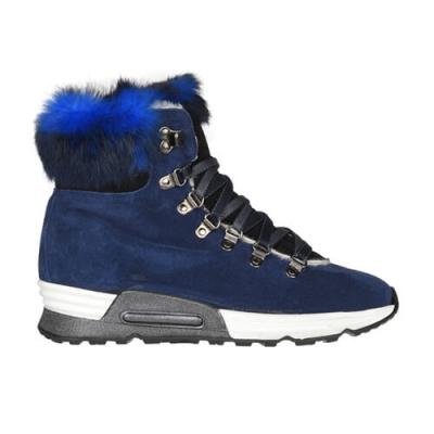 Замшевые синие кроссовки JOYKS (ITALY)
