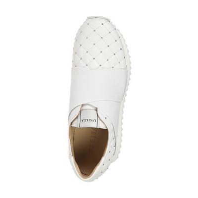 Кожаные белые кроссовки LE SILLA (ITALY)
