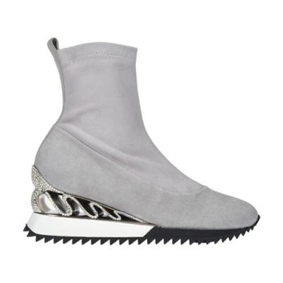 Замшевые серые кроссовки LE SILLA (ITALY)