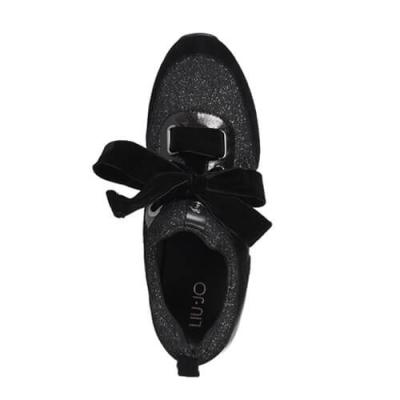 Замшевые чёрные кроссовки LIU JO (ITALY)