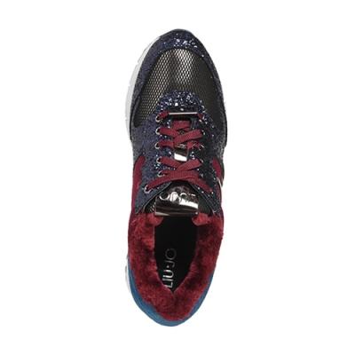 Текстильные цветные кроссовки LIU JO (ITALY)