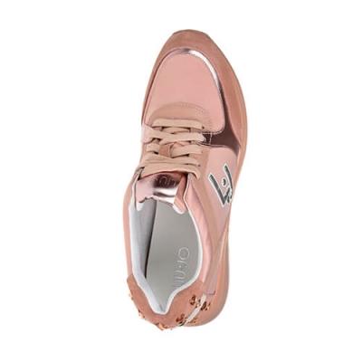 Текстильные розовые кроссовки LIU JO (ITALY)