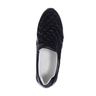 Кожаные чёрные кроссовки LOGAN (ITALY)