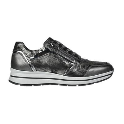 Кожаные серебряные кроссовки NERO GIARDINI (ITALY)