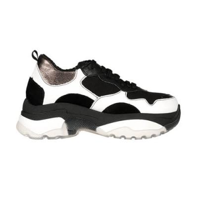 Кожаные чёрно-белые кроссовки NILA & NILA (ITALY)
