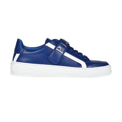 Кожаные синие кроссовки PHILIPP PLEIN (GERMANY)