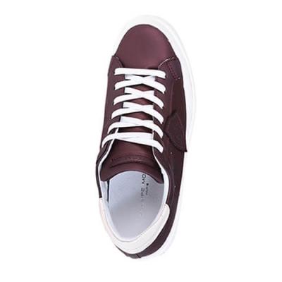 Кожаные бордовые кроссовки PHILIPPE MODEL (ITALY)