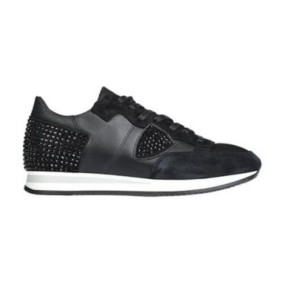 Замшевые чёрные кроссовки PHILIPPE MODEL (ITALY)
