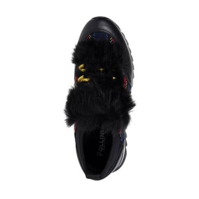 Кожаные цветные кроссовки POLLINI (ITALY)