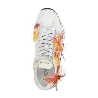 Текстильные белые кроссовки PREMIATA (ITALY)