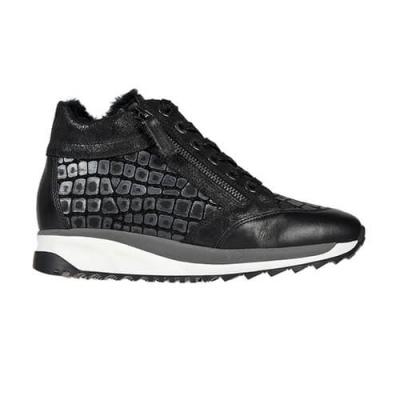 Кожаные чёрные кроссовки TINE'S (ITALY)
