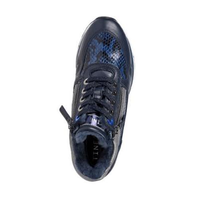 Кожаные синие кроссовки TINE'S (ITALY)