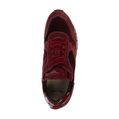 Замшевые бордовые кроссовки VOILE BLANCHE (ITALY)