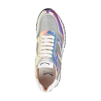 Кожаные серебряные кроссовки VOILE BLANCHE (ITALY)