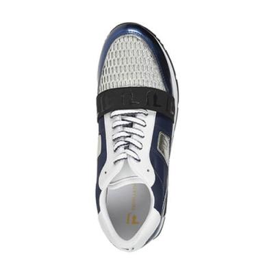 Кожаные синие кроссовки TRUSSARDI JEANS (ITALY)