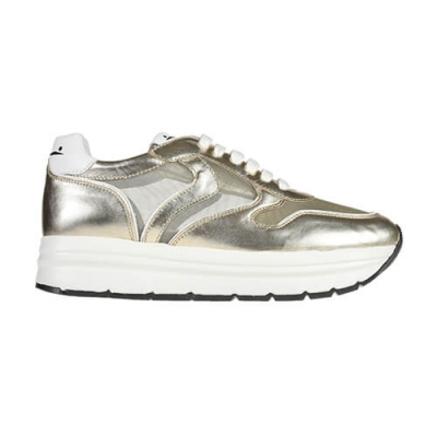Кожаные золотые кроссовки VOILE BLANCHE (ITALY)