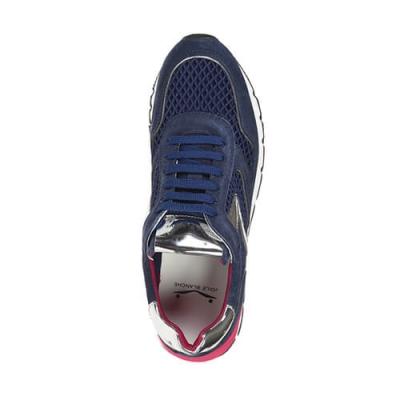 Текстильные синие кроссовки VOILE BLANCHE (ITALY)