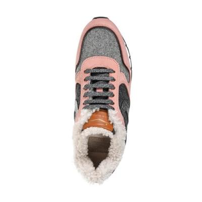 Замшевые цветные кроссовки VOILE BLANCHE (ITALY)
