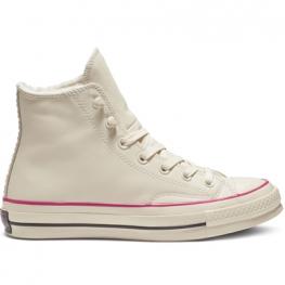 Кеды Converse 70 ® Оригинал Белые Высокие — Мужские Кожаные Конверсы — 162434C