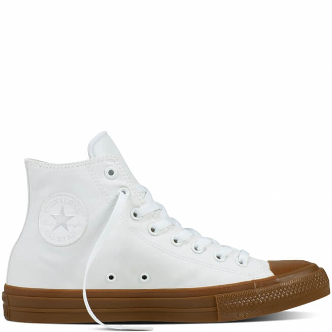 Кеды (Оригинал) Converse Chuck Taylor All Star II Gum Pack Высокие Белые (White)