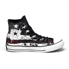 Кеды (Оригинал) Converse Chuck Taylor All Star American Flag Высокие Чёрно-Белые (Black White)