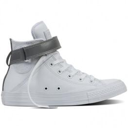 Кеды Converse ® Оригинал Белые Высокие — Женские Кожаные Конверсы — 553422C