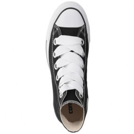 Кеды (Оригинал) Converse Chuck Taylor All Star Canvas Big Eyelets Высокие Чёрные (Black)