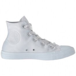 Кеды (Оригинал) Converse Chuck Taylor All Star Canvas Big Eyelets, Высокие, Платина (Pure Platinum)
