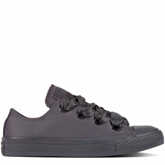 Кеды (Оригинал) Converse Chuck Taylor All Star Canvas Big Eyelets Низкие Чёрные (Almost Black)