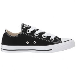 Кеды (Оригинал) Converse Chuck Taylor All Star Canvas Big Eyelets Низкие Чёрные (Black)