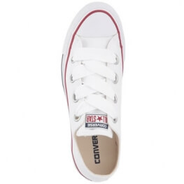 Кеды (Оригинал) Converse Chuck Taylor All Star Canvas Big Eyelets, Низкие, Белые (White)