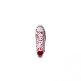 Кеды (Оригинал) Converse Chuck Taylor All Star Высокие Красный Принт (Red)