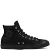 Кеды (Оригинал) Converse Chuck Taylor All Star Craft Leather Высокие Чёрные (Black)