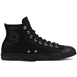 Кеды (Оригинал) Converse Chuck Taylor All Star Craft Leather Высокие Чёрные (Black)
