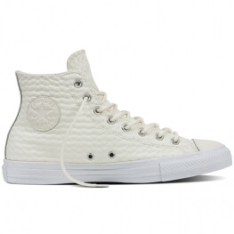 Кеды (Оригинал) Converse Chuck Taylor All Star Craft Leather Высокие Белые (White)