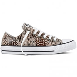 Кеды (Оригинал) Converse Chuck Taylor All Star Fashion Snake Низкие Коричневые (Brown)