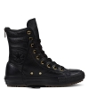 Ботинки (Оригинал) Converse Chuck Taylor All Star Hi-Rise Boot Leather + Fur Высокие Чёрные (Black)