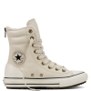 Ботинки (Оригинал) Converse Chuck Taylor All Star Hi-Rise Boot Leather + Fur Высокие Белые(White)