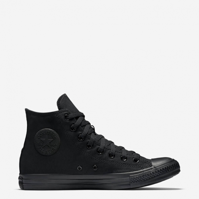 3524540e1942 Кеды (Оригинал) Converse Chuck Taylor All Star Высокие Чёрные Монохром ( Black Monochrome)