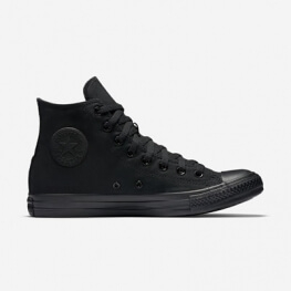 Кеды (Оригинал) Converse Chuck Taylor All Star Высокие Чёрные Монохром (Black Monochrome)