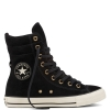 Кеды (Оригинал) Converse Chuck Taylor All Star High-Rise Suede Boot Высокие Чёрные (Black)