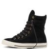 Кеды (Оригинал) Converse Chuck Taylor All Star High-Rise Suede Boot Высокие Чёрные (Black)