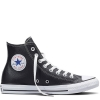 Кеды (Оригинал) Converse Chuck Taylor All Star Leather, Высокие, Чёрные (Black)
