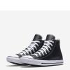 Кеды Converse ® Классика Чёрные Высокие — Мужские Кожаные Конверсы — 132170C