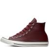 Кеды Converse ® Оригинал Бордовые Высокие — Мужские Кожаные Конверсы — 161494C